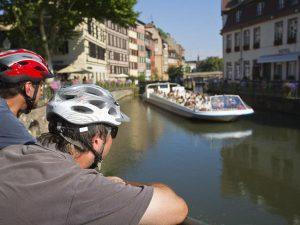 Citta sulla mosella in bici