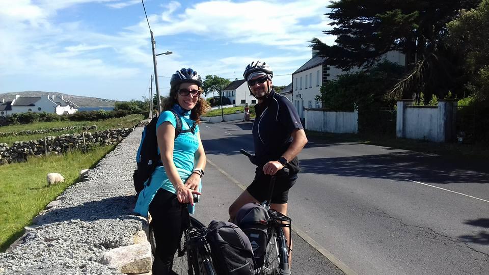 boy and girl on a bike