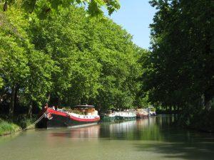 barca e bici sul canal du midi
