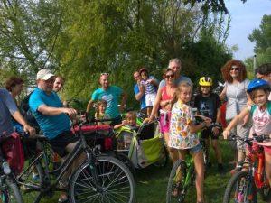 Famiglia, vacanza in bicicletta, Loira