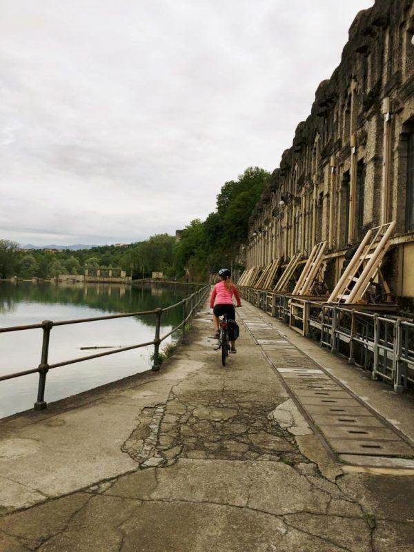 centrale idroelettrica treccani trezzo d'adda tour in bici e vacanze