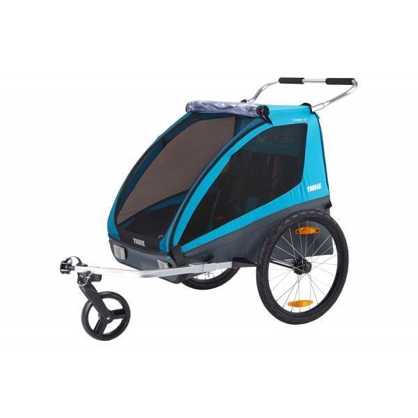 carrellino trasporto bambini in bicicletta