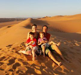 deserto famiglia