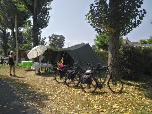 camping, tenda, bicicletta, bike, tent