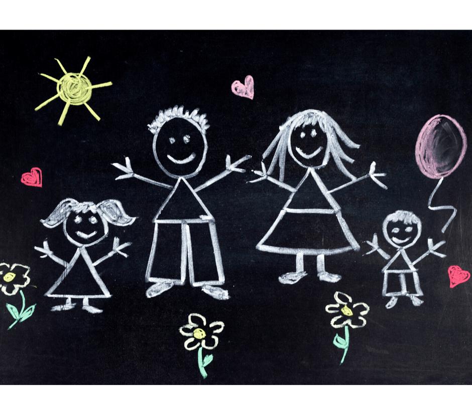 disegno famiglia lavagna