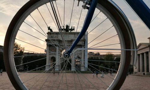 arco della pace bici, bike